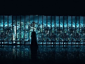 Window, Town, Batman, panorama