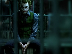 cell, bars, The Dark Knight, JOKER, movie