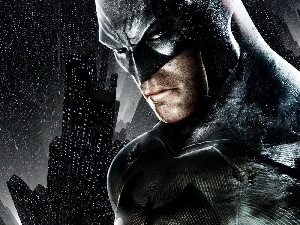 Rain, graphics, Batman