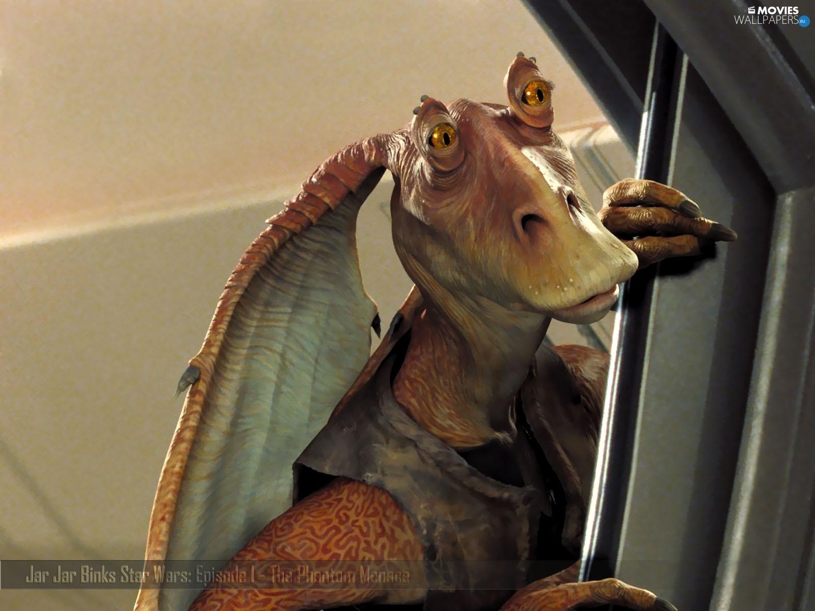 Jar Jar Binks Episode I The Phantom Menace Star Wars Movies Wallpapers 1600x1200
